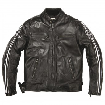 Giacche moto Helstons Ace Leather Rag Black