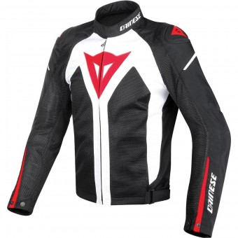 Giacche moto Dainese Hyper Flux D-Dry White Black Red