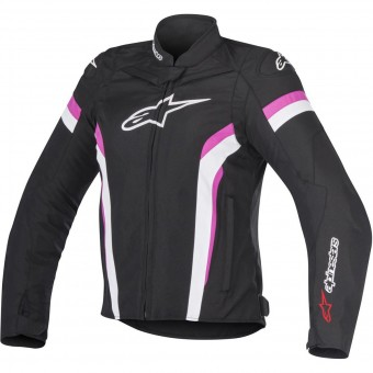 Giacche moto Alpinestars Stella T-GP Plus R V2 Air Black White Fuchsia