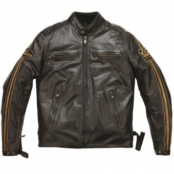 Giacche moto Helstons Ace Leather Rag Brown