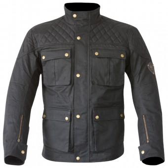 Giacche Moto Lunghe Merlin Armitage Wax Black