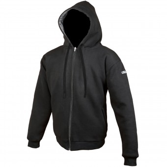 Giacche moto Booster Hoodie Kevlar Core Black