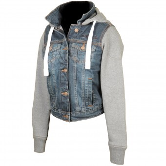 Giacche moto Booster Denim Hoodie Lady
