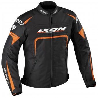 Giacche moto Ixon Eager Nero Bianco Arancione