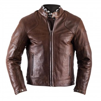 Giacche moto Helstons Heat Leather Antik Brown