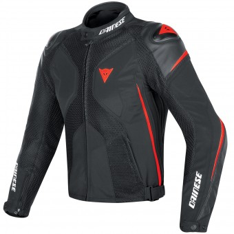Giacche moto Dainese Super Rider D-Dry Black Red Fluo