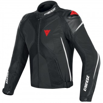 Giacche moto Dainese Super Rider D-Dry Black White Fluo