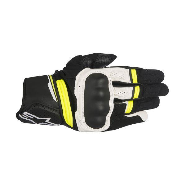 Guanti moto Alpinestars Booster Black Yellow Fluo