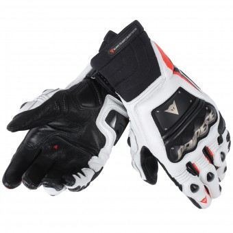 Guanti moto Dainese Race Pro In Black Red Fluo White