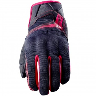 Guanti moto Five RS3 Black Red