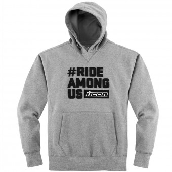 Pullover Moto ICON R.A.U. Hoody Charcoal