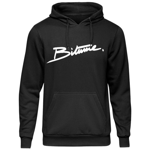 Pullover Moto 100% Bitume Hoodie Signature Big Black