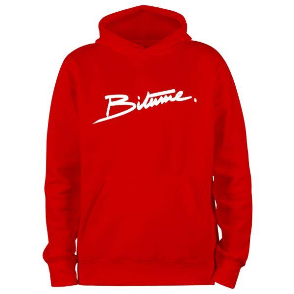 Pullover Moto 100% Bitume Hoodie Signature Big Red