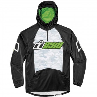 Pullover Moto ICON Single Stack Green