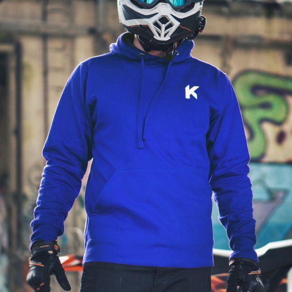 Kikaninac Sweat Hoodie Supermot Blu