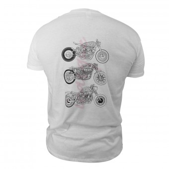 T-Shirt Moto iCasque Arrogance Motorcycles White