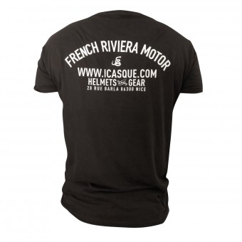 T-Shirt Moto iCasque French Riviera Motor Black