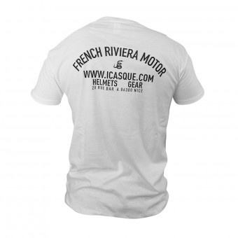 T-Shirt Moto iCasque French Riviera Motor White