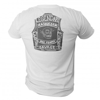 T-Shirt Moto iCasque Legendary Cut White