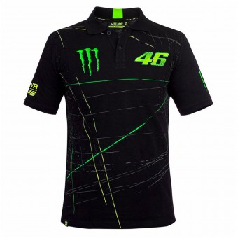 T-Shirt Moto VR 46 Polo Monster DBTC Black