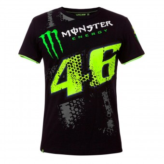 T-Shirt Moto VR 46 T-Shirt Repplica DTBC Monster Black VR46