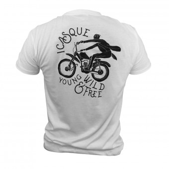 T-Shirt Moto iCasque YWF White
