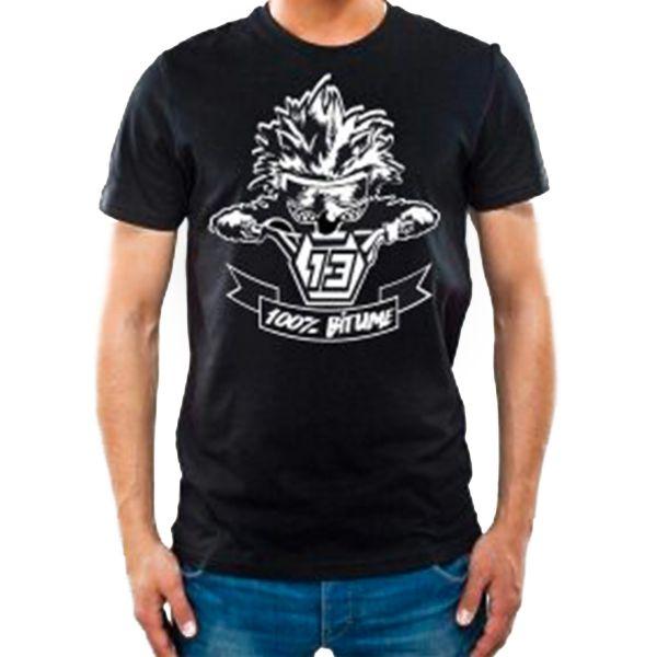 T-Shirt Moto 100% Bitume Niglo Black