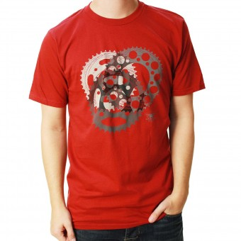 T-Shirt Moto Alpinestars Sprockets Tee Rio Red
