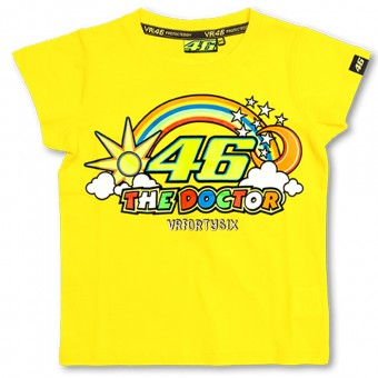 T-Shirt Moto VR 46 T-Shirt Kid Yellow VR46